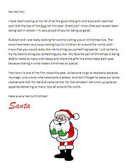 free printable santa letters - claus