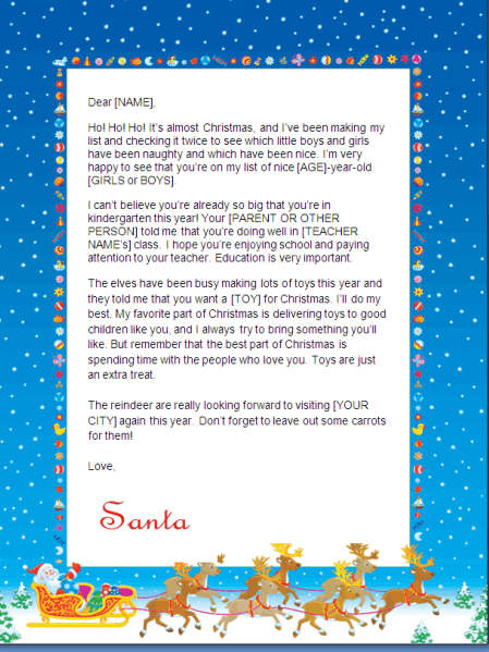 Christmas Letter Template Free from blog.christmaslettertips.com