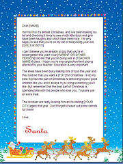 santa letters to print - sleigh