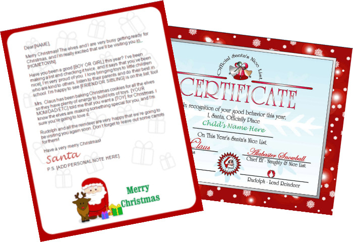 Printable Santa Letters - Santa Claus and Reindeer Design |