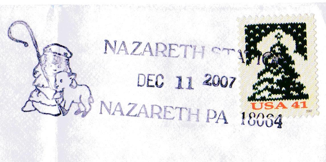 nazareth christmas postmark