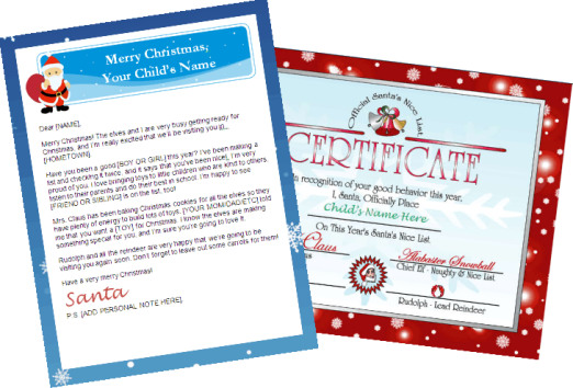 santa letter nice list combo - personalized banner red
