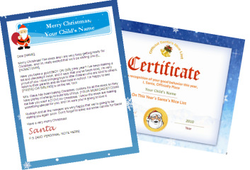 santa letter nice list combo - personalized banner santa certif