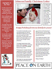 ... Christmas Newsletter Template  Microsoft Word Christmas Letter Template