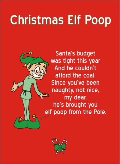 printable elf poop poem